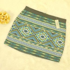 American Eagle Skirt Size 6 Tribal Woven Mini NWT